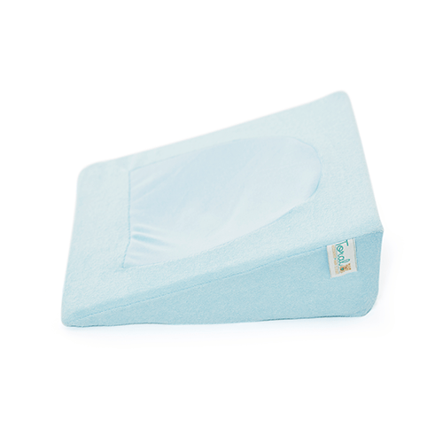 Almohada anti-reflujo antifluido azul